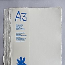 Khadi White Rag Cold-Press 320gsm A3 –  pkt 20 sht