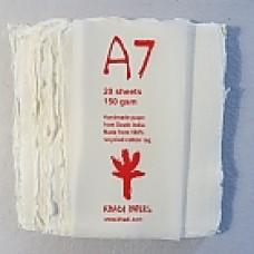 Khadi White Rag Cold-Press 150gsm A7 –  pkt 20 sht